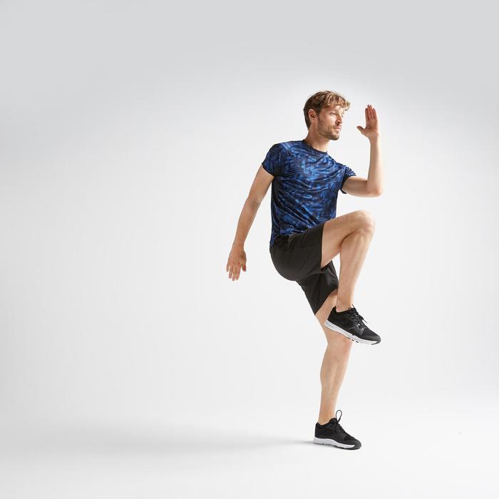 Tee shirt cardio fitness training homme FTS 120 bleu AOP