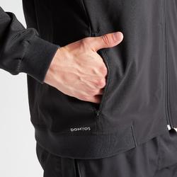 Sudadera deportiva con cremallera Cardio Training Domyos FVE 100 hombre negro