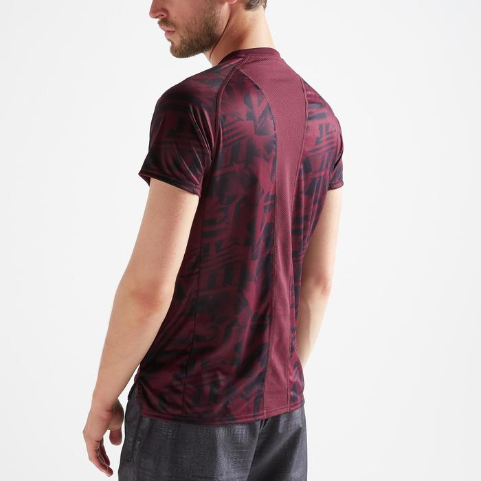 Tee shirt cardio fitness training homme FTS 120 bordeaux chiné