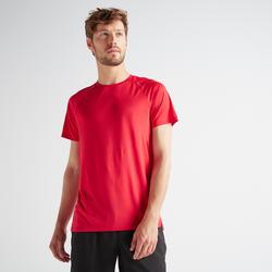 Cardiofitness T-shirt heren FTS 100 blauw rood