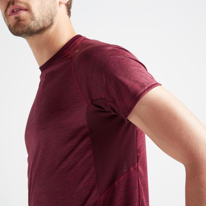 T-Shirt FTS 120 Fitness Cardio Herren bordeaux AOP