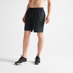 Men's Zip-Pocket Fitness Short With Mesh - Black