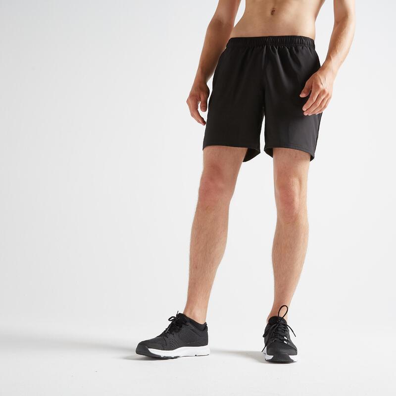 Short pantalón corto chándal hombre Fitness Domyos FST 100 negro