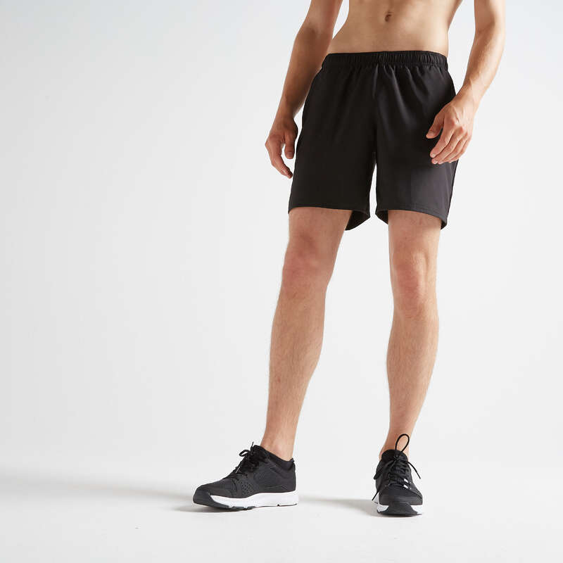 MAN FITNESS APPAREL Clothing - FST 100 Shorts - Black DOMYOS - Bottoms