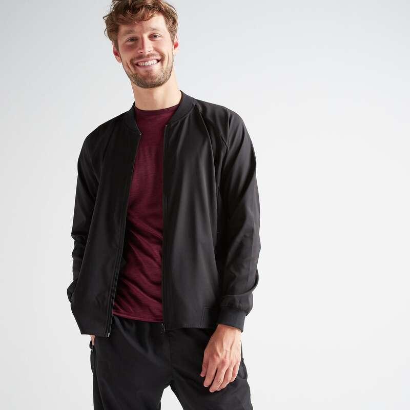 MAN FITNESS APPAREL New Collection - FVE 100 Jacket - Black DOMYOS - Men