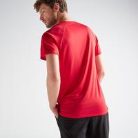 Playera cardio fitness hombre FTS 100 azul rojo
