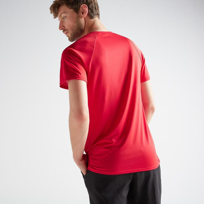 Tee-shirt cardio fitness training homme FTS 100 bleu rouge