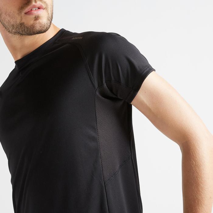 有氧健身T恤FTS 120-純粹黑