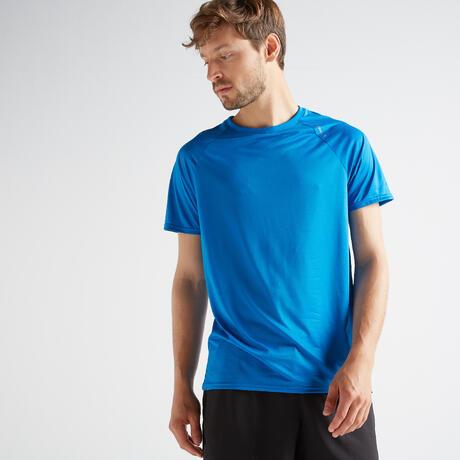 8dd1b50cebd2f8 FTS 100 Fitness Cardio Training T-Shirt - Blue | Domyos by Decathlon