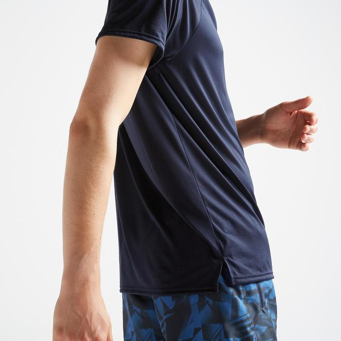 Tee-shirt cardio fitness training homme FTS 100 bleu marine