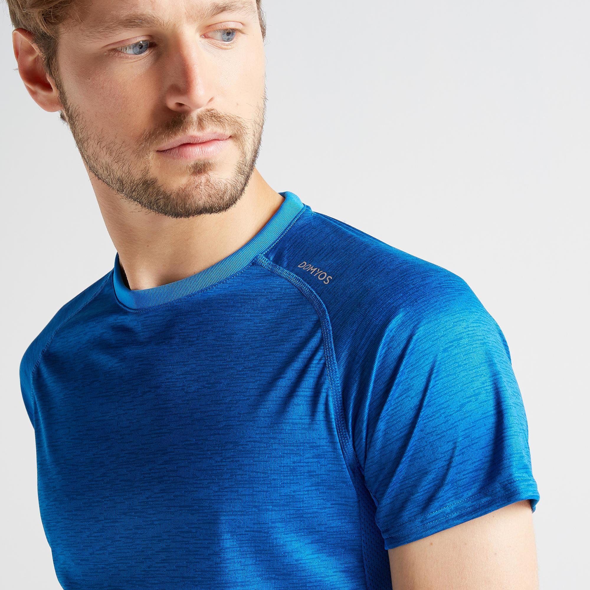 T-Shirt FTS 120 Fitness-/Cardiotraining Herren khaki/uni   Sportbekleidung > Sportshirts > Poloshirts   Domyos
