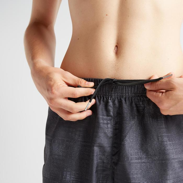 Cardiofitnessshort heren FST 120 gemêleerd zwart met opdruk