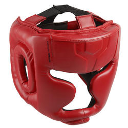 Kids' Full Face Boxing Headguard 500 - Red