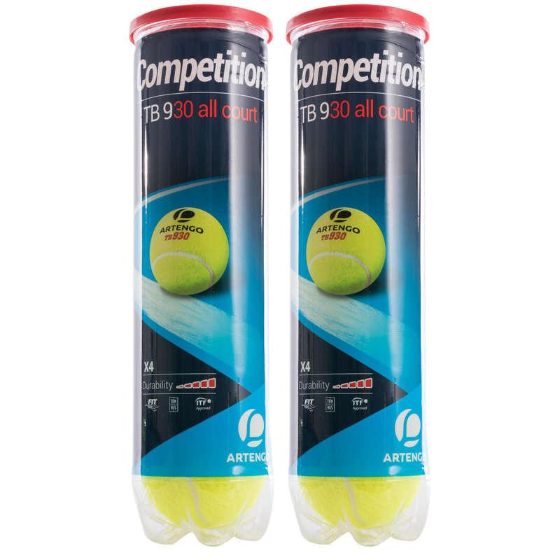 TENNIS BALLS Tennis - TB930 Twin 4-Pack ARTENGO - Tennis Accessories