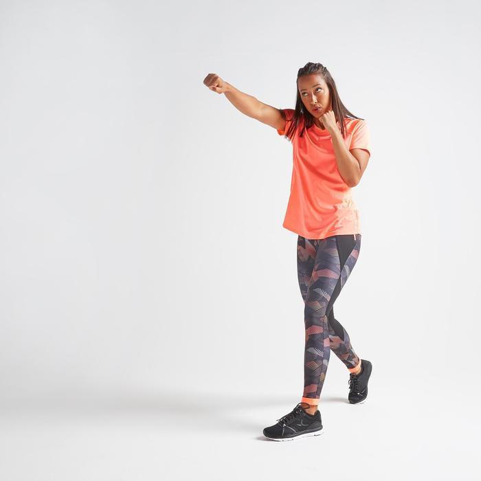 Fitness shirt 500 voor dames, koraal