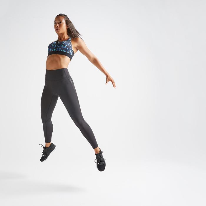 Sportbeha voor cardiofitness 900 rits print