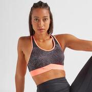 Women's Fitness Cardio Training Sports Bra 500 - Print