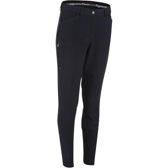 Pantalon équitation femme BR500 basanes marine - 172492