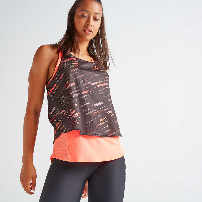 FITNESS CARDIO CONFIRMED WOMAN CLOTHING Fitness and Gym - FTA 520 3-in-1 Tank Top DOMYOS - Fitness and Gym