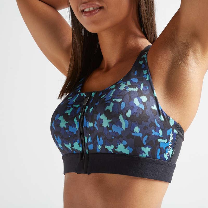 Cardio Damen Sport-BHs Fitness - Sport-BH Zip FBRA 900 DOMYOS - Fitnessbekleidung