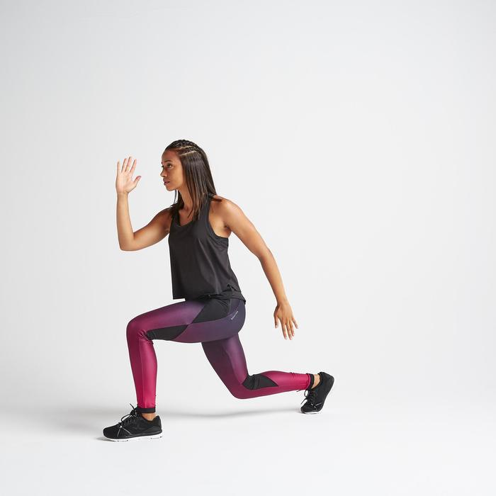 Fitness legging 500 voor dames, bordeaux