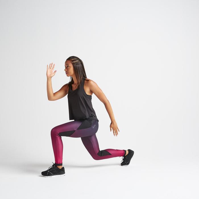 Legging fitness cardio training femme dégradé bordeaux