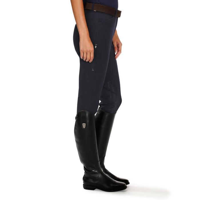Pantalon équitation femme BR500 basanes marine - 172495