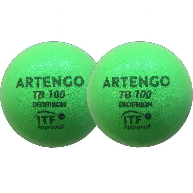 PALLINE TENNIS Sport di racchetta - Palline tennis TB100 x2 9cm ARTENGO - Attrezzatura tennis