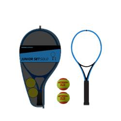 Tennisset voor kinderen Solo 1 racket 2 ballen 1 hoes