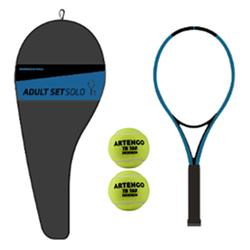 SET TENNIS ADULTE SOLO 1 RAQUETTE 2 BALLES 1 HOUSSE