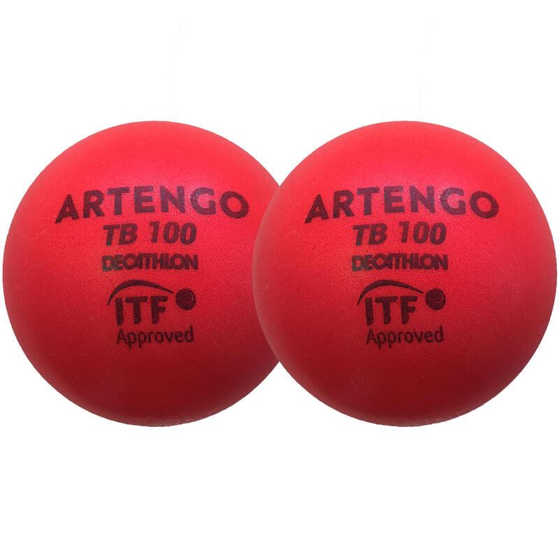 9cm Foam Tennis Ball TB100 Twin-Pack - Red