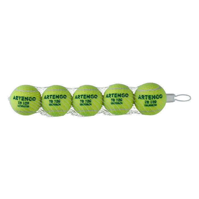 Tennis Ball TB120 x 5 - Green Dot