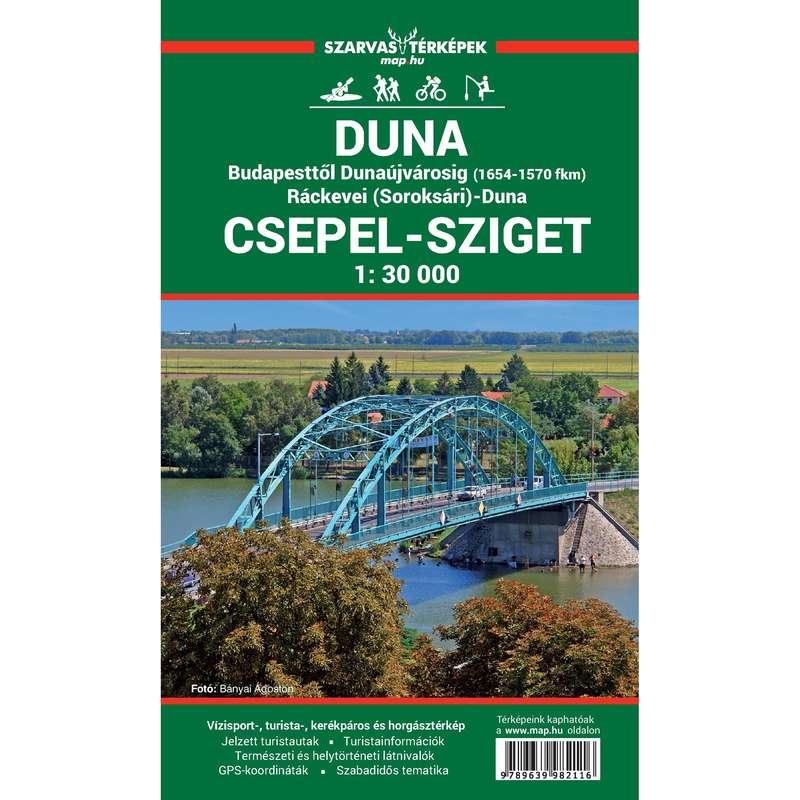 Térképek Túrázás - Duna – Csepel-sziget térképe CARTOGRAPHIA - Túra felszerelés