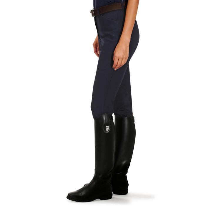 Pantalón equitación mujer BR500 badanas Azul marino Fouganza  f34d0b2ad831