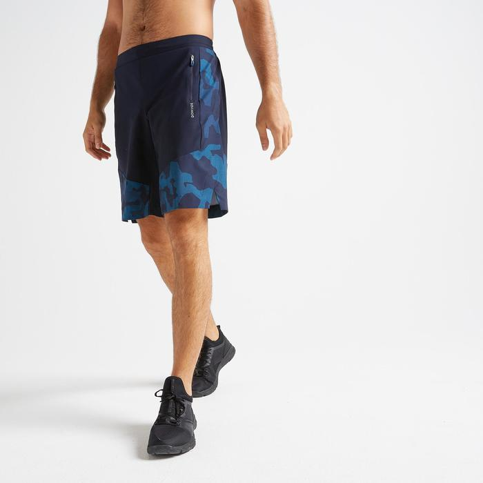 Short cardio fitness training homme FST 500 bleu AOP