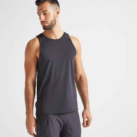 Men's Fitness Cardio Training Tank Top 500 - Black