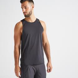 Men's Ventilated Back Fitness Tank Top - Black