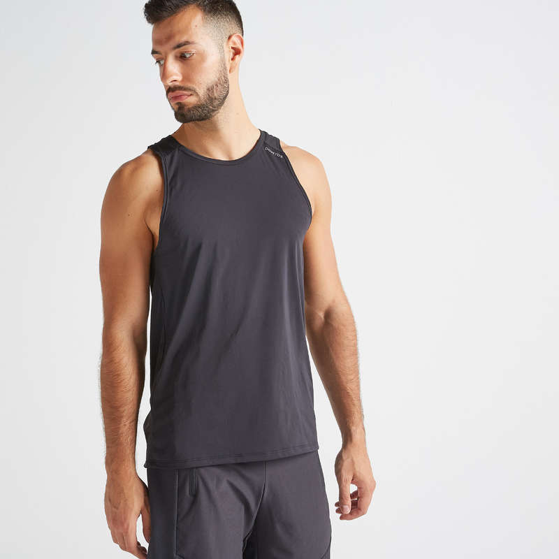 FITNESS CARDIO CONFIRMED MAN OUTFIT Fitness and Gym - FTA 500 Tank Top - Black DOMYOS - Fitness and Gym