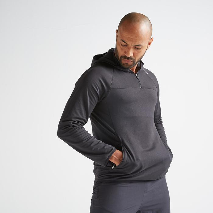 Sweater cardiofitness FSW500 heren zwart
