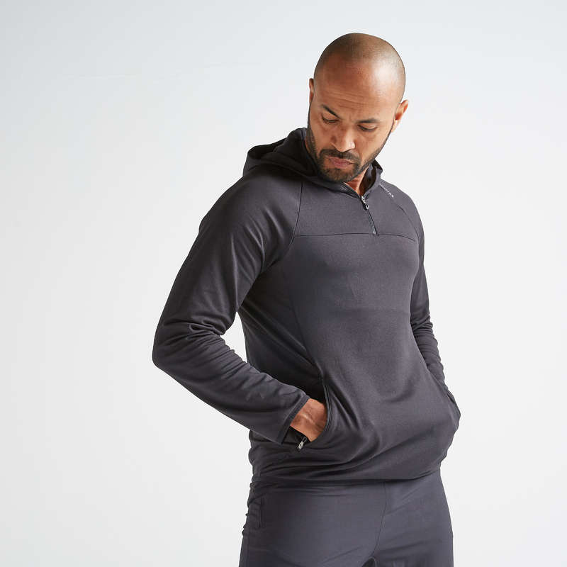 FITNESS CARDIO CONFIRMED MAN OUTFIT - FSW 500 Fitness Sweatshirt DOMYOS