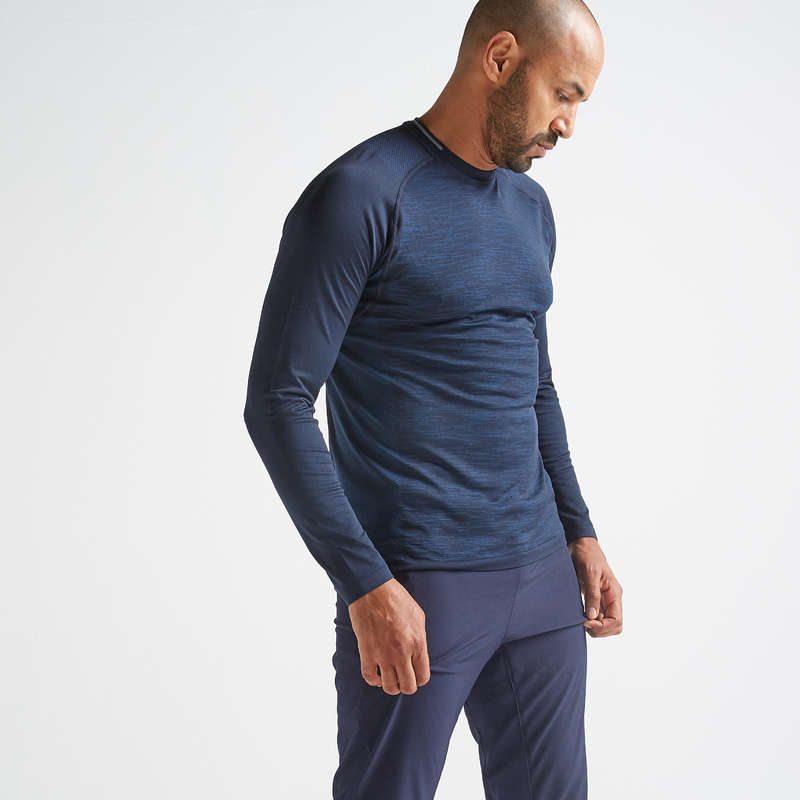 FITNESS CARDIO CONFIRMED MAN OUTFIT Fitness and Gym - FTS 500 Long-Sleeved T-Shirt DOMYOS - Fitness and Gym