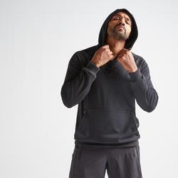 Sudadera deportiva con capucha Cardio Training Domyos FSW 500 hombre negro