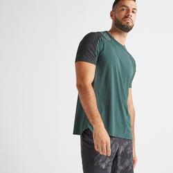 T-Shirt FTS 500 Fitness Cardio Herren khaki/grün