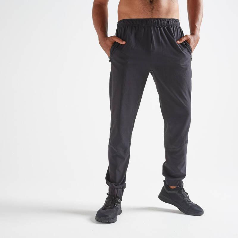 PÁNSKÉ OBLEČENÍ NA FITNESS, ZAČÁTEČNÍCI Fitness - SPORTOVNÍ TEPLÁKY FIT 500 DOMYOS - Fitness oblečení a boty