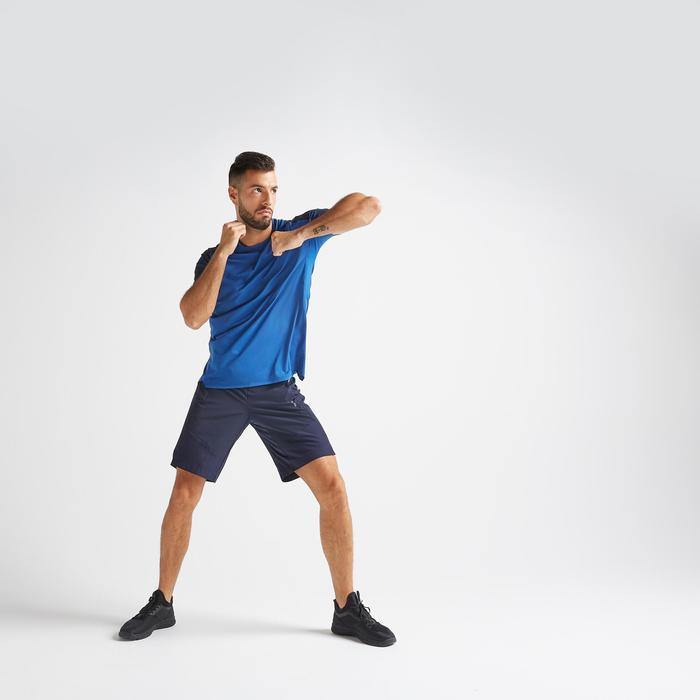 T-shirt voor cardiofitness heren FTS 500 blauw