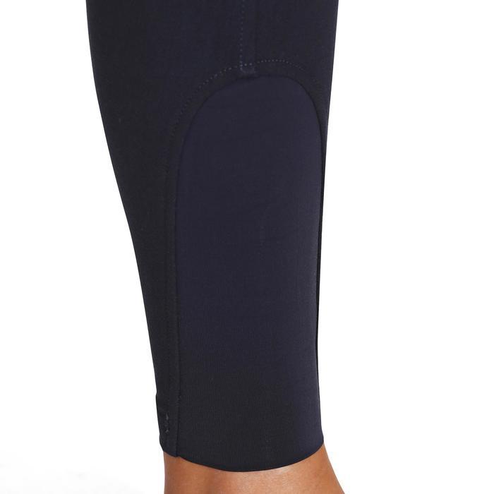 Pantalon équitation femme BR500 basanes marine - 172503