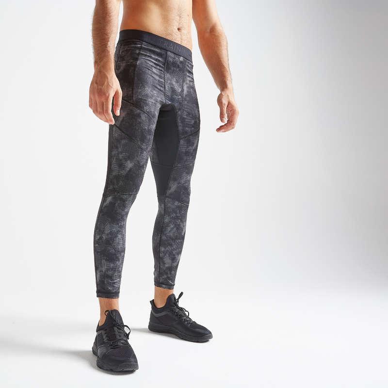 ABBIGLIAMENTO UOMO CARDIO FITNESS Fitness - Leggings uomo cardio 500 grigi DOMYOS - Abbigliamento palestra