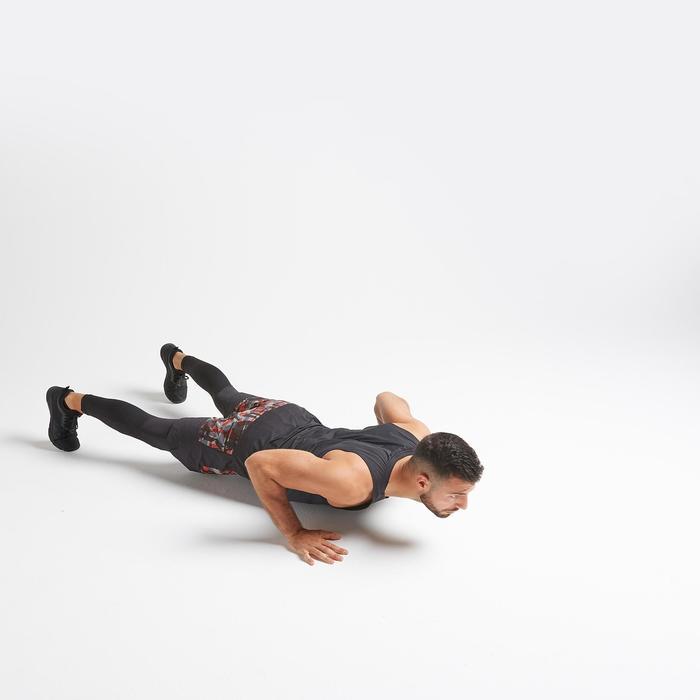 Legging voor cardiofitness heren training FLEG 500 zwart