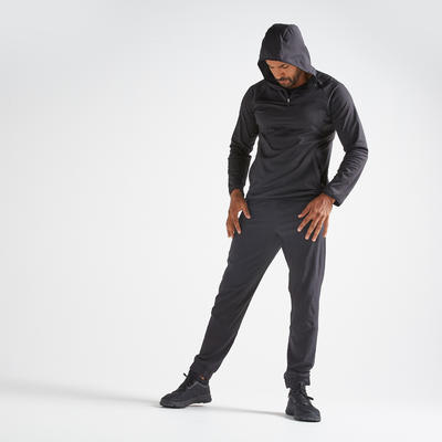 Sweat-shirt fitness cardio-training homme FSW500 noir