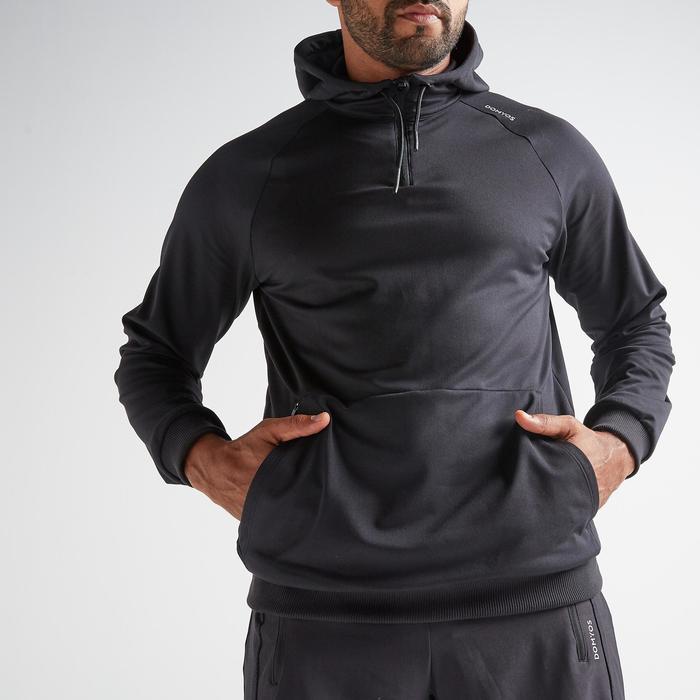 Sweatshirt Cardio Fitness FSW 500 Herren schwarz